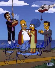 Simpsons Stephen Colbert and Lionel Richie Autographed Signed 8x10 Photo BAS COA