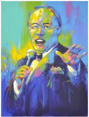 Frank Sinatra 2003 Art Expo Original Artwork