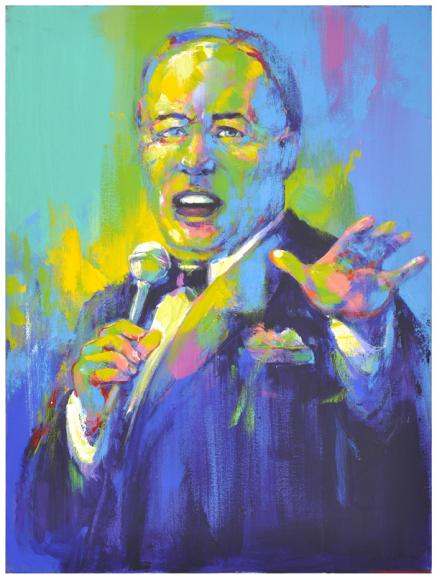 Frank Sinatra 2003 Art Expo Original Artwork