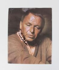 Singer Frank Sinatra Signed 9 1/4″ x 11 1/2″ Color Photo – JSA Full LOA
