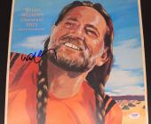 Singer Willie Nelson Autographed Greatest Hits Double Album PSA Authenticated X