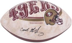 Autographed Mike Singletary Ball - San Francisco 49ers Logo Mounted Memories