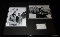 Sir Edmund Hillary Signed Framed 16x20 Photo Display Mt Everest
