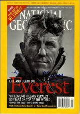 Sir Edmund Hillary SIGNED National Geographic Mag LETTER PSA/DNA AUTOGRAPHED