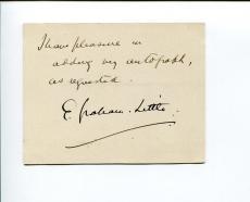 Sir Ernest Gordon Graham Graham-Little London University MP Signed Autograph