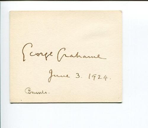 George Dixon Grahame British Ambassador Brussels United Nations Signed Autograph
