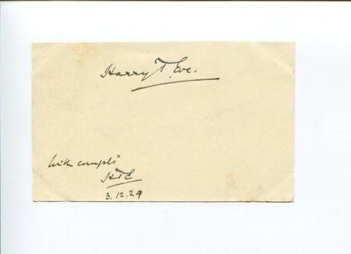 Sir Harry Trelawney Eve Privy Counsellor Jurist MP Ashburton Signed Autograph