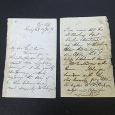 Sir Moses Montefiore Handwritten Signed 4 Page Letter 1873 Judaica With JSA COA