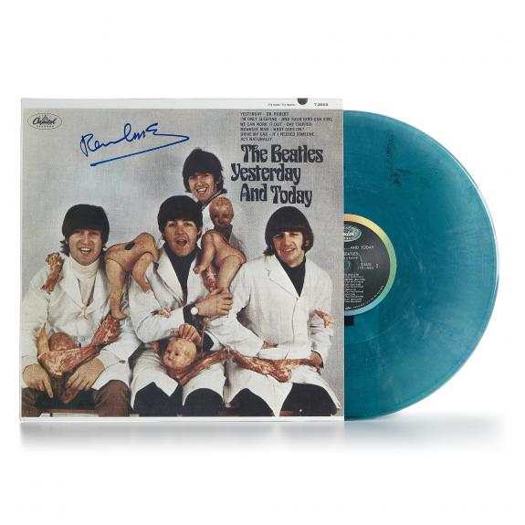 Sir Paul McCartney Signed Beatles Yesterday And Today Butcher Re-Issue Album