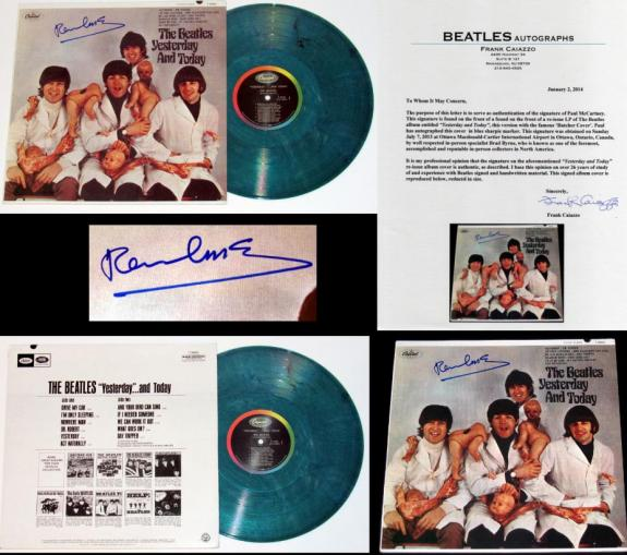 Sir Paul McCartney Signed The Beatles Yesterday & Today Butcher Album – BB COA
