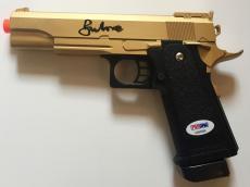 Sir Roger Moore James Bond 007 Golden Gun Signed Air Soft Metal Toy Gun PSA/DNA