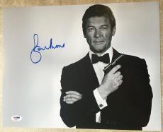 Sir Roger Moore James Bond 007 Moonraker Golden Gun Signed 11x14 PSA/DNA COA #1