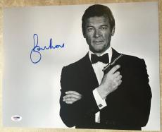 Sir Roger Moore James Bond 007 Moonraker Golden Gun Signed 11x14 PSA/DNA COA #1