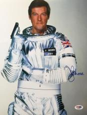 Sir Roger Moore James Bond 007 Moonraker Golden Gun Signed 11x14 PSA/DNA COA #2