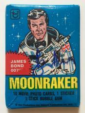 Sir Roger Moore James Bond 007 Moonraker Signed 1979 Topps Pack PSA/DNA COA #1