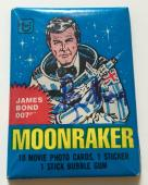 Sir Roger Moore James Bond 007 Moonraker Signed 1979 Topps Pack PSA/DNA COA #2