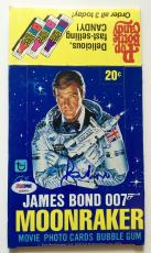 Sir Roger Moore James Bond 007 Moonraker Signed 1979 Topps Wax Box PSA/DNA COA