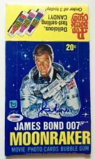 Sir Roger Moore James Bond 007 Moonraker Signed 1979 Topps Wax Box PSA/DNA COA