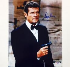 SIR ROGER MOORE Signed 007 James Bond 11x14 Photo #3 PSA/DNA COA Autograph Auto
