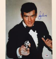 SIR ROGER MOORE Signed 007 James Bond 11x14 Photo #4 PSA/DNA COA Autograph Auto