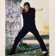 SIR ROGER MOORE Signed 007 James Bond 11x14 Photo #5 PSA/DNA COA Autograph Auto