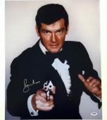SIR ROGER MOORE Signed 007 James Bond 16x20 Photo #3 PSA/DNA COA Autograph Auto
