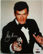 SIR ROGER MOORE Signed 007 James Bond 8x10 photo #9 PSA/DNA COA Autograph Auto