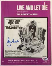 Sir ROGER MOORE Signed JAMES BOND Sheet Music Paul McCartney PSA/DNA COA Proof