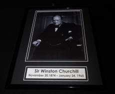 Sir Winston Churchill Framed 11x14 Photo Display