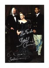 "SIX DEGREES of SEPARATION"" Signed by WILL SMITH as PAUL, DONALD SUTHERLAND as FLAN, and STOCKARD CHANNING as OUISA - 8.5x11 Color Photo"