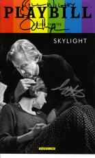 Skylight Autographed X3 Signed Bill Carey Matthew Playbill UACC RD AFTAL COA