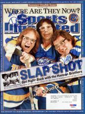 Slap Shot Authentic Autographed Signed SI Magazine Carlson Hanson PSA #X59876