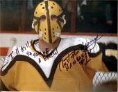Slap Shot autographed 8x10 photo Christopher Murney Goaltender Hanrahan inscribed Ill Kill Ya You S O B