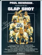 Slap Shot autographed 8x10 photo Dennis Lemieux Chiefs Goaltender Yvone Barrette Image #SC4