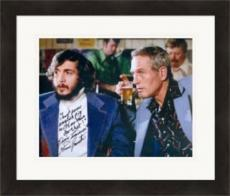 Slap Shot autographed 8x10 photo Dennis Lemieux Goaltender Yvone Barrette #SC2 inscribed Just Some English Pig With No Brain Do That Matted & Framed