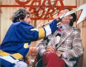 Slap Shot Dennis Lemieux autographed 8x10 photo Goaltender Yvone Barrette inscribed You go to the box you feel shame then you go free