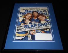 Slap Shot Framed 11x14 ORIGINAL 2007 Sports Illustrated Cover Hanson Brothers