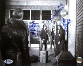 Slap Shot Hanson Brothers Charlestown Chiefs Triple Signed 8x10 Photo BAS