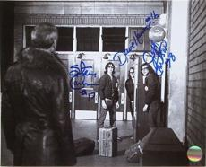 Slap Shot Hanson Brothers Charlestown Chiefs Triple Signed 8x10 Photo SI