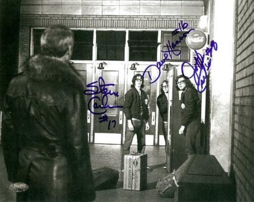 Slapshot Authentic Autographed Signed 8x10 Photo Carlson & Hanson MCS Holo 21806