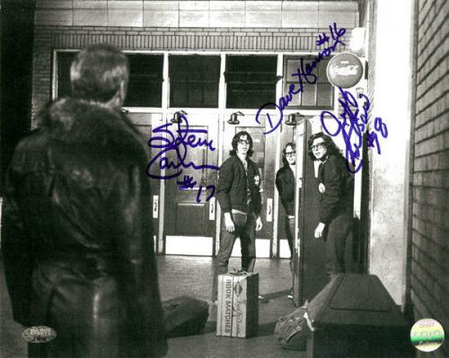 Slapshot Authentic Autographed Signed 8x10 Photo Carlson & Hanson MCS Holo 21809