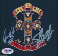SLASH and STEVEN ADLER GUNS N ROSES SIGNED CD COVER PSA/DNA #K03053