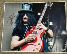 Slash Autographed 16x20 Guns N' Roses 16x20 Photo. PSA