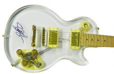 Slash Autographed Signed Clear Guitar UACC RD