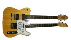 Slash Autographed Signed Double Neck Telecaster Guitar PSA AFTAL