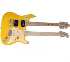 Slash Autographed Signed Doubleneck Guitar UACC RD COA