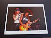 Slash & Axl Paul Natkin Signed Limited Edition Guns Roses Live 11x13.5 Photo
