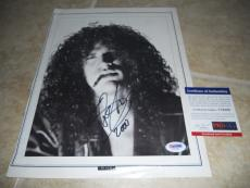 SLASH GNR Guns Roses Signed Autograph 9x12 Rolling Stone Photo #1 PSA Certified