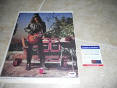 SLASH GNR Guns Roses Signed Autograph 9x12 Rolling Stone Photo #2 PSA Certified
