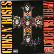 Slash Guns N' Roses Autographed Appetite For Destruction Album Cover - BAS